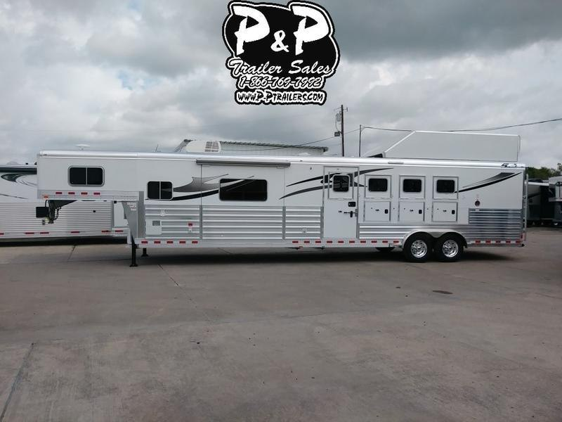 2018 4-Star Trailers 8415PCOLPL 4 Horse 15' Short wall