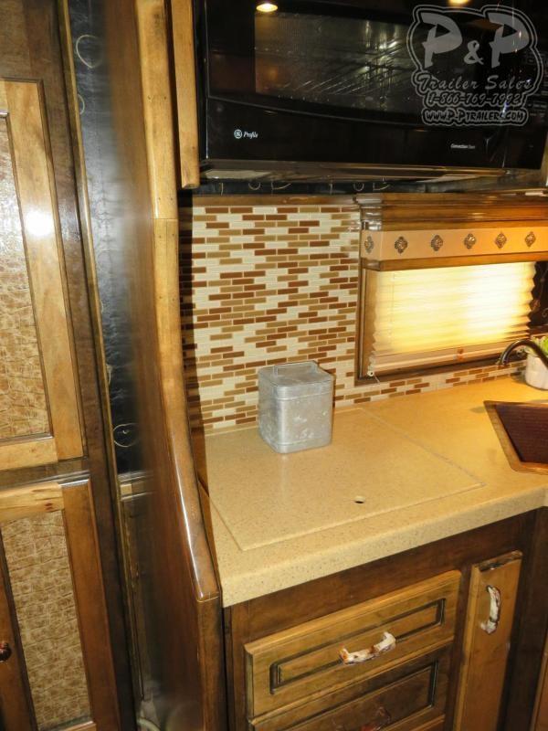 2010 Platinum Coach 8417 4 Horse Slant Load Trailer 17 FT LQ With Slides w/ Ramps