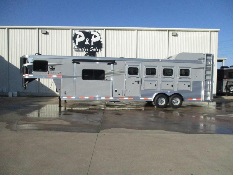 2019 Lakota Trailers Charger Edition C8411 4 Horse 11' Short Wall w/Slide-Out