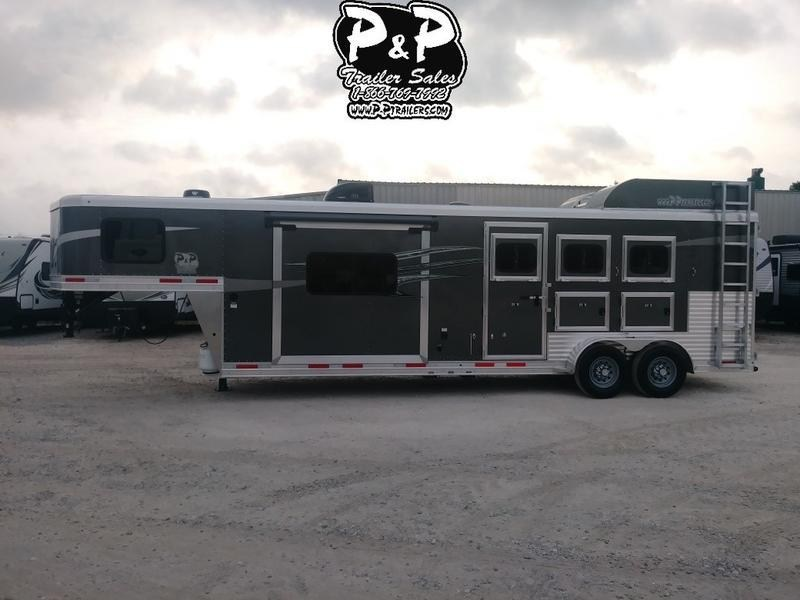 2019 Lakota Trailers C311 Charger 3 Horse with 11' Short wall