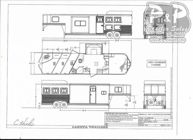 2020 Lakota Trailers C8311