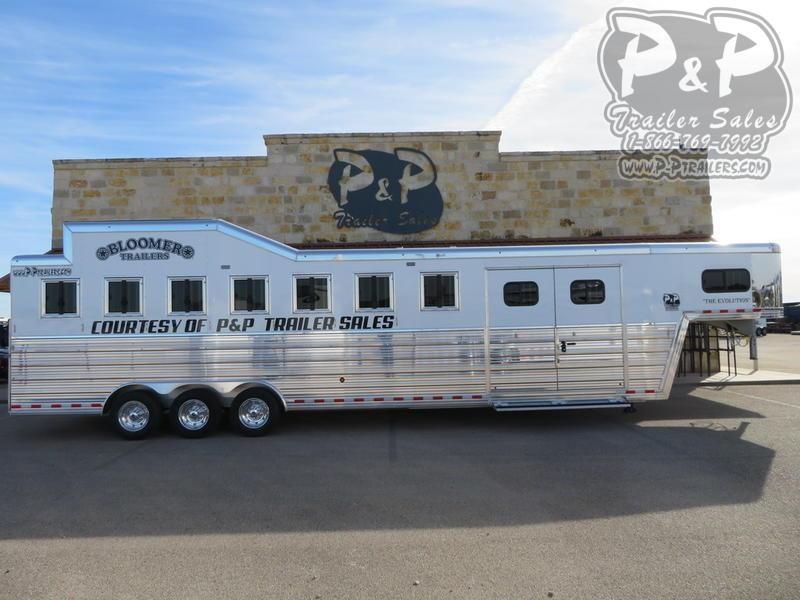 2019 Bloomer 7 Horse Trainer 7 Horse Slant Load Trailer w/ Ramps