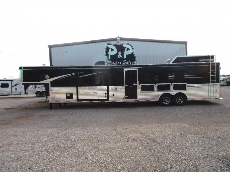 2020 Bison Trailers Ranger 8414RGLRSL 4 Horse 14 Shortwall 4 Horse Trailer 14 LQ With Slides Slant