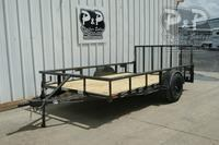 2019 P and P PPSA12X72LDRGPTDT 12 ft Utility Trailer