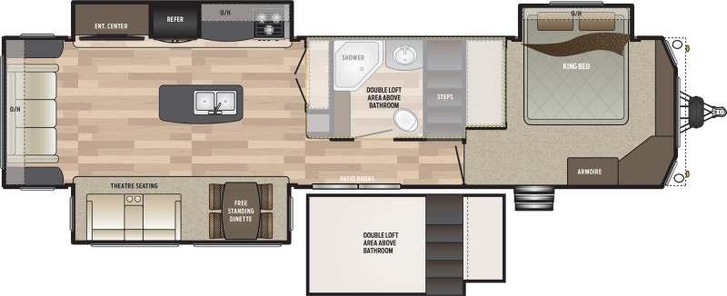 2019 Keystone RV Residence 40FLFT DESTINATION TRAILER 40.92' Destination Trailers LQ