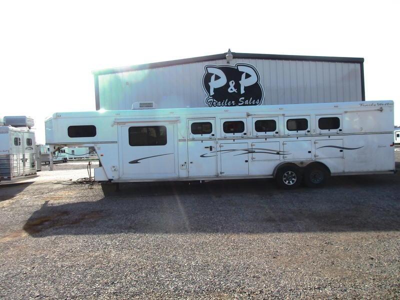2010 Trails West Sierra 5 Horse 8'L.q. with Slideout
