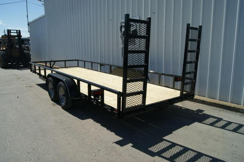 2019 P and P 83 X 20 Lowboy 20' Utility Trailer