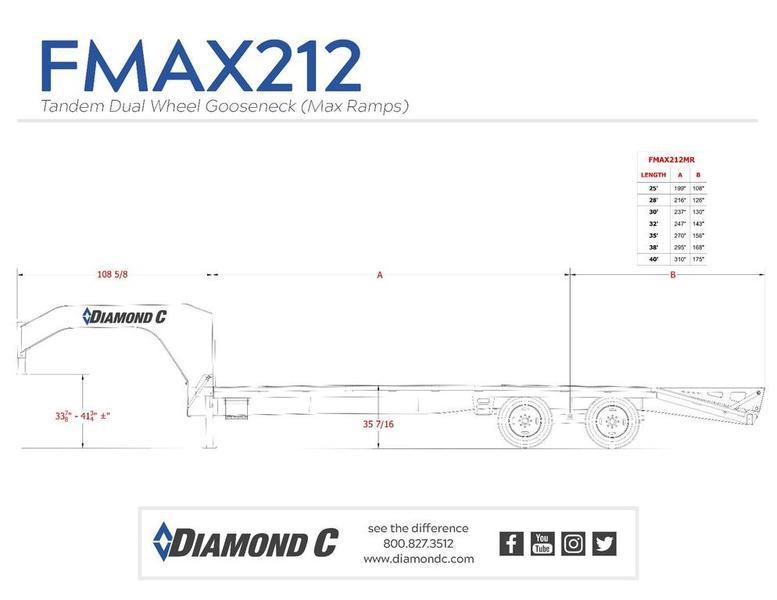 """2019 Diamond C FMAX212 35' x 102"""""""