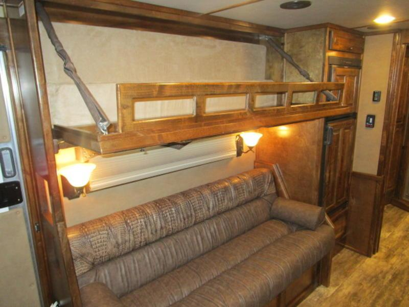 "2019 Bloomer Trailers 4 Horse 15'4"" SW with Sofa and Dinette"