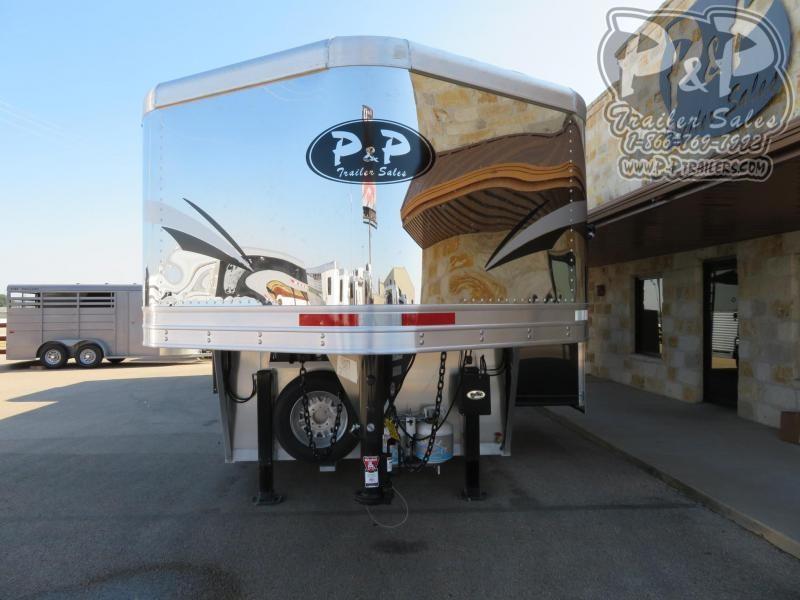 2020 Lakota Charger C8415RSL 4 Horse Slant Load Trailer 15 LQ With Slides w/ Ramps