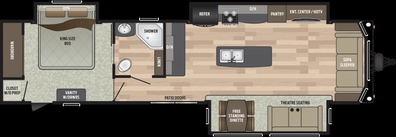 2019 Keystone RV Residence 401MKTS DESTINATION TRAILER 40.67' Destination Trailers LQ