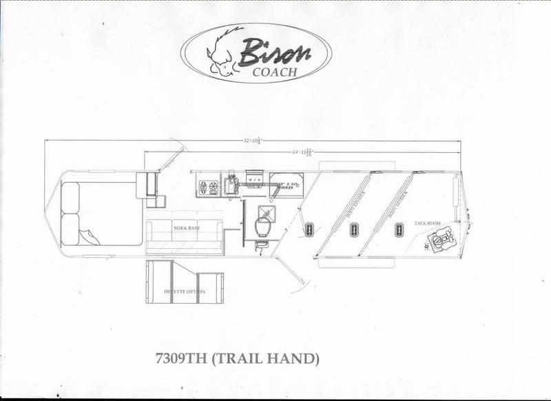 2019 Bison Trail Hand 3 Horse 9' Short Wall