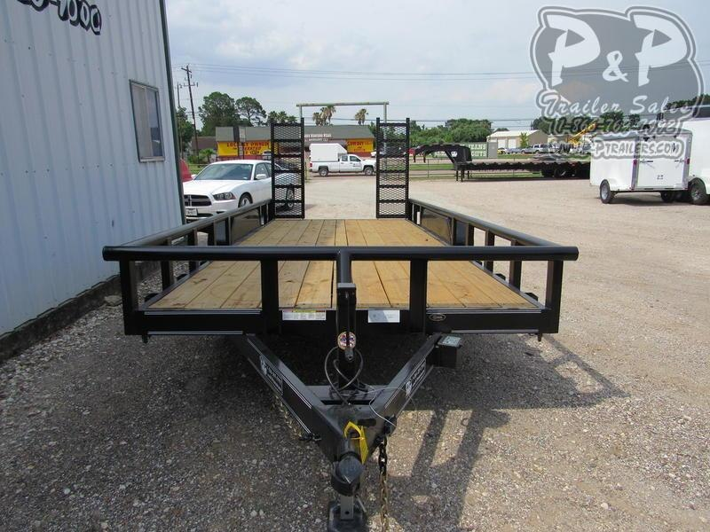 2019 P and P 83 X 18 Medium Duty Pipe Top 18 ft Utility Trailer