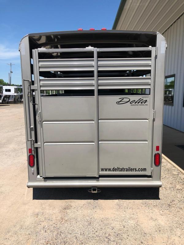 2019 Delta Manufacturing 500 Series 14' Livestock Trailer