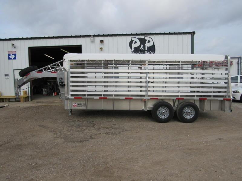 2019 W-W Trailer Alum Roustabout 20 X 6.8 Wide 20' Livestock Trailer in Ashburn, VA