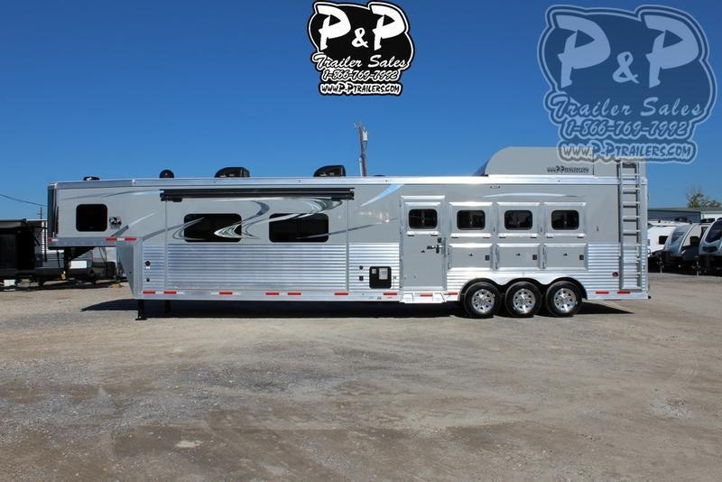 2019 Lakota Bighorn Edition BH8418TCE 4 Horse Trailer 18 LQ With Slides Slant