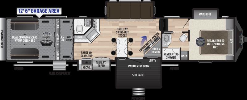 2019 Keystone Fuzion 424 TOY HAULER 44' Toy Hauler LQ in Arivaca, AZ