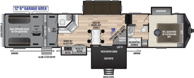 2019 Keystone Fuzion 424 TOY HAULER 44' Toy Hauler LQ in Alpine, AZ