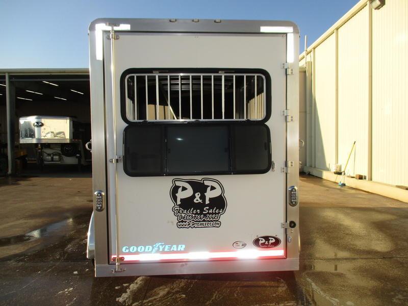2019 P & P 3 Horse Slant Load Bumper Pull