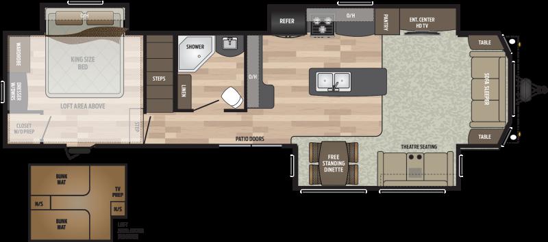 2019 Keystone RV Residence 401LOFT DESTINATION TRAILER 40.67' Destination Trailers LQ