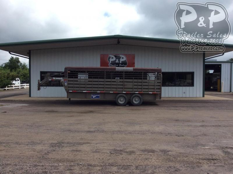 2012 Gooseneck 68x20 Stock 20' Livestock Trailer