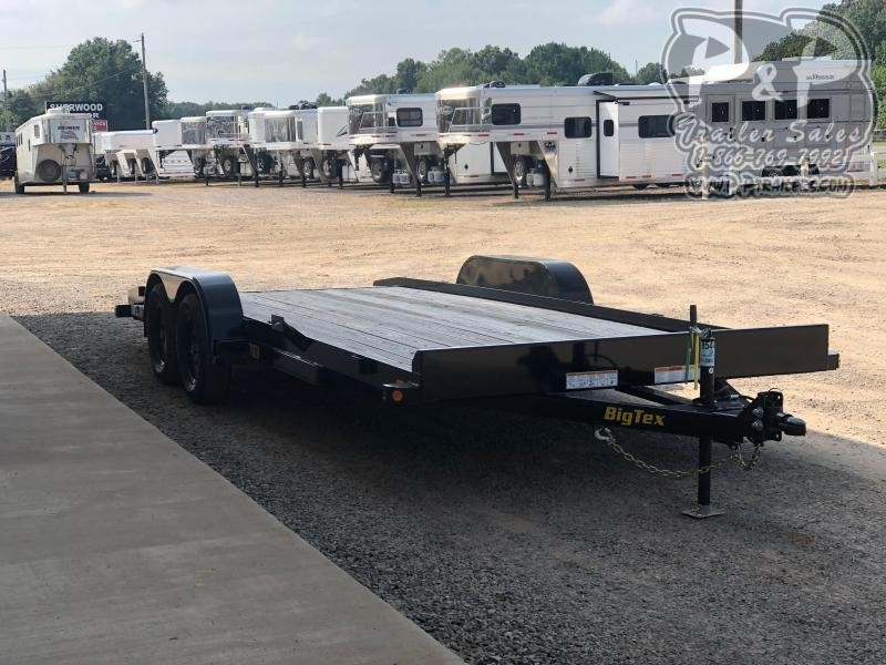 2019 Big Tex Trailer 70CH-20BKDT 20FT w/ Dove Tail Flatbed Trailer