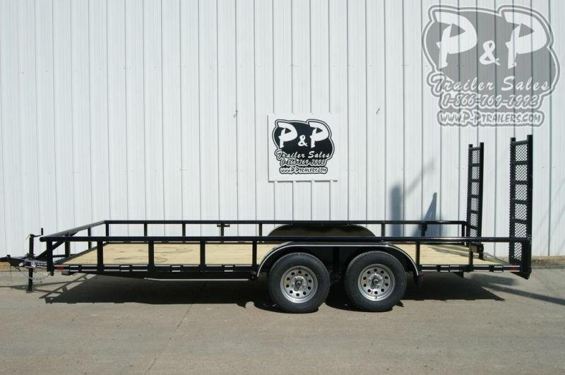 2019 P and P 83 X 18 Lowboy 18 ft Utility Trailer