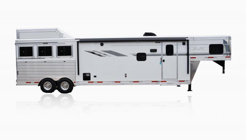 2019 SMC Horse Trailers SL8X15SRKCE 3 Horse 15' LQ Horse Trailer Slant