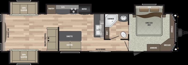 2019 Keystone RV Residence 401RDEN DESTINATION TRAILER 40.92' Destination Trailers LQ