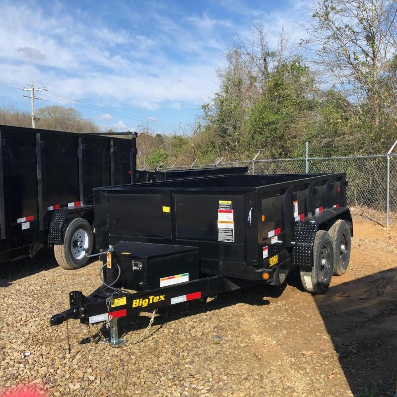 2019 Big Tex Trailers 2019 Big Tex Trailer 90SR-10BK7SIR 10ft w/ Slide in Ramps Dump Trailer