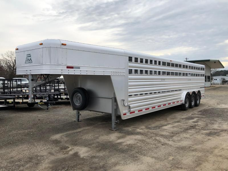2019 Platinum Coach 28' Gooseneck Stock Trailer