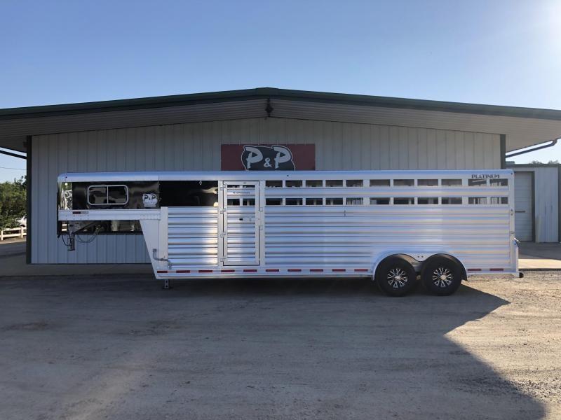 2019 Platinum Coach 7x24 Stock Combo 24' Livestock Trailer in Ashburn, VA