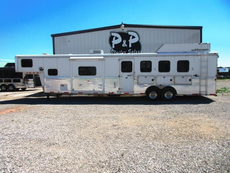 2012 Bison Trailers 8414TESL 4 Horse Trailer 14 LQ With Slides Slant