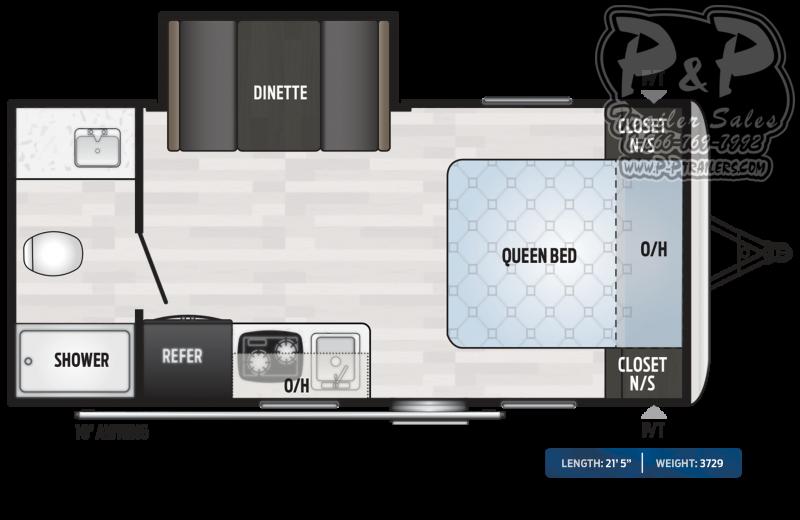 2020 Keystone RV Springdale MINI 1790FQ Single Axle 21.42 ft Travel Trailer RV