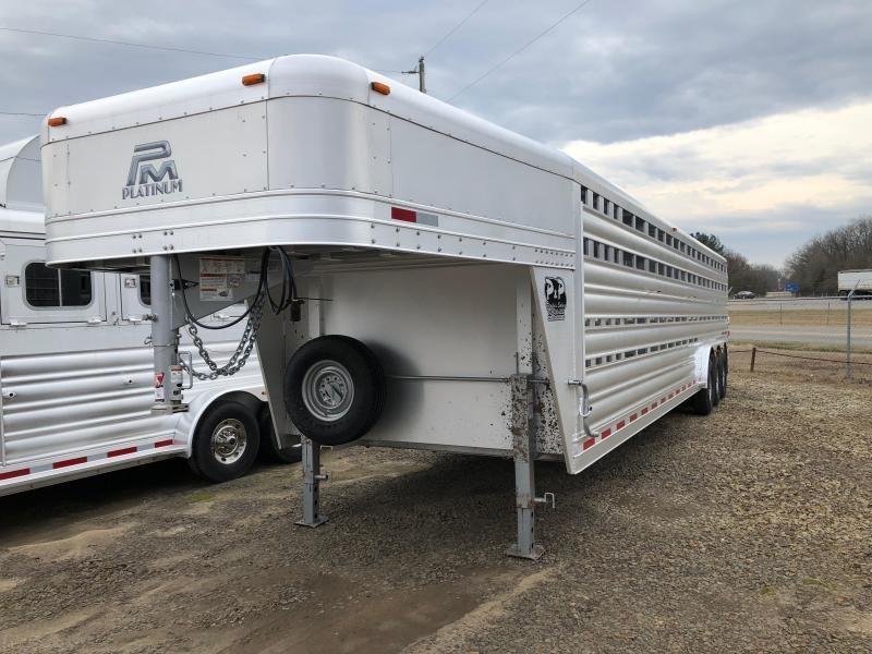 2019 Platinum Coach 32 Stock GN Livestock Trailer