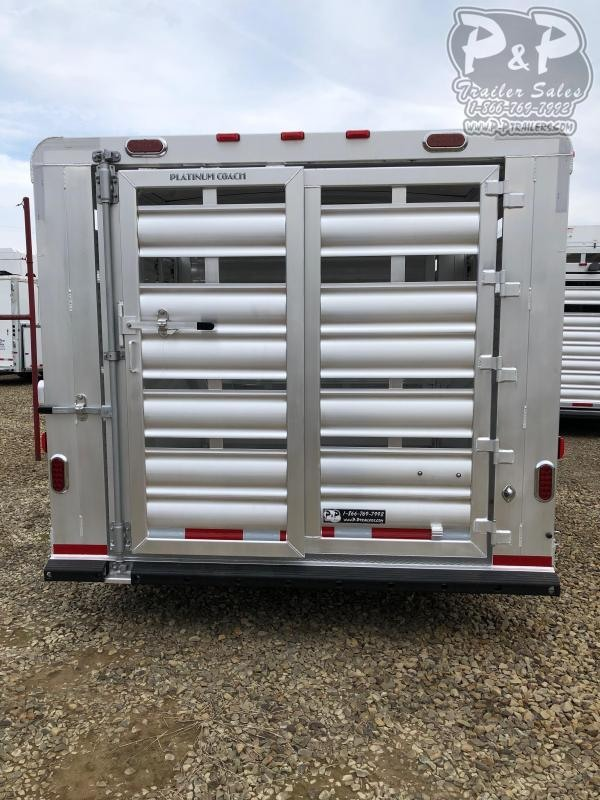 2020 Platinum Coach 32 Stock GN 32 ft Livestock Trailer