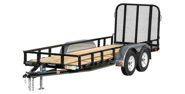 2019 PJ Trailers 60 in. Tandem Axle Channel Utility (UC) Utility Trailer