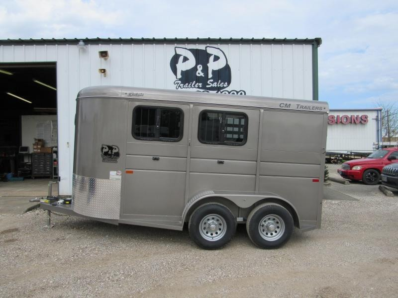 2019 CM Dakota 2H 14x6'x6'6 w/Drop Windows Horse Trailer