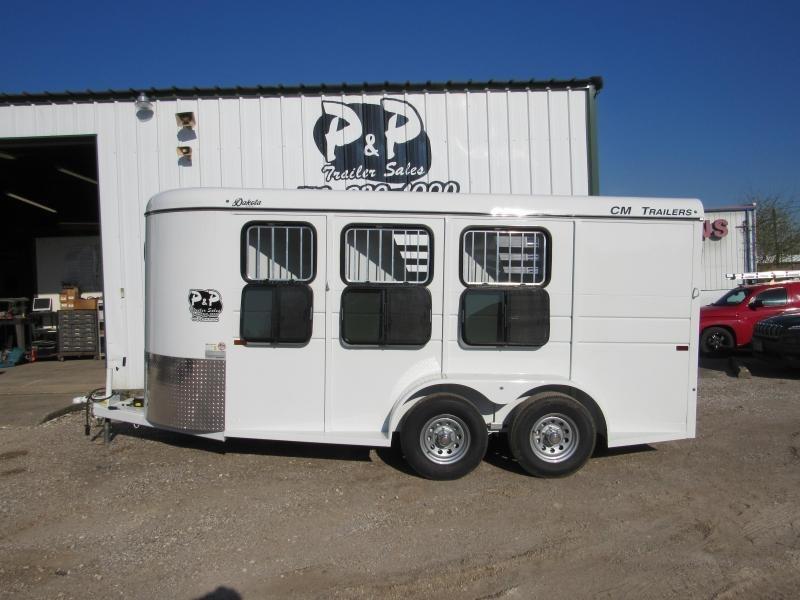 """2019 CM Dakota 3 Horse 16x6'x6'6""""  Trailer"""