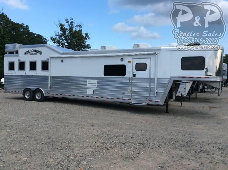 2012 Bloomer 8417OL 4 Horse Trailer 17 LQ With Slides Slant