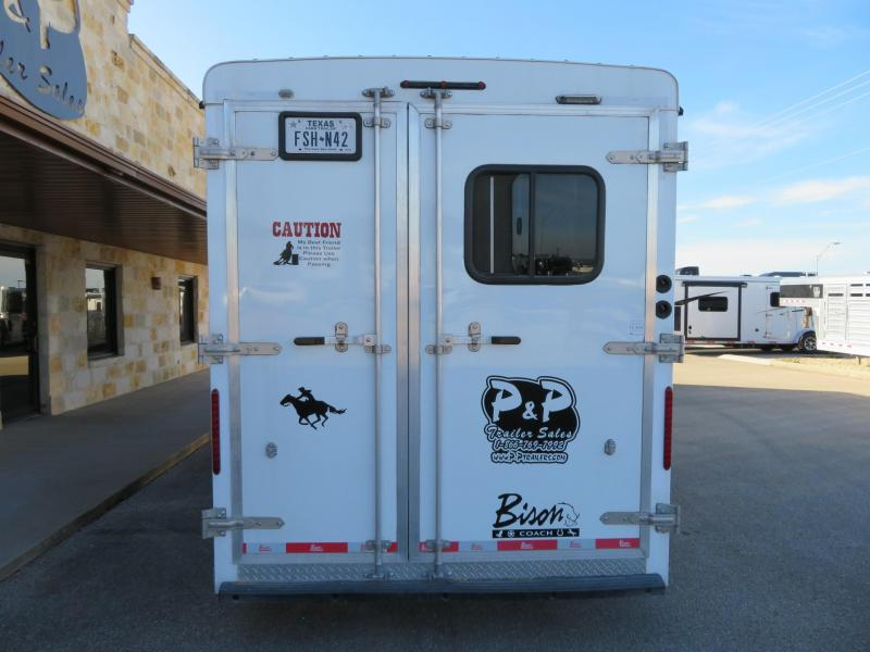 2016 Bison Trailers 3H 9 SW Horse Trailer