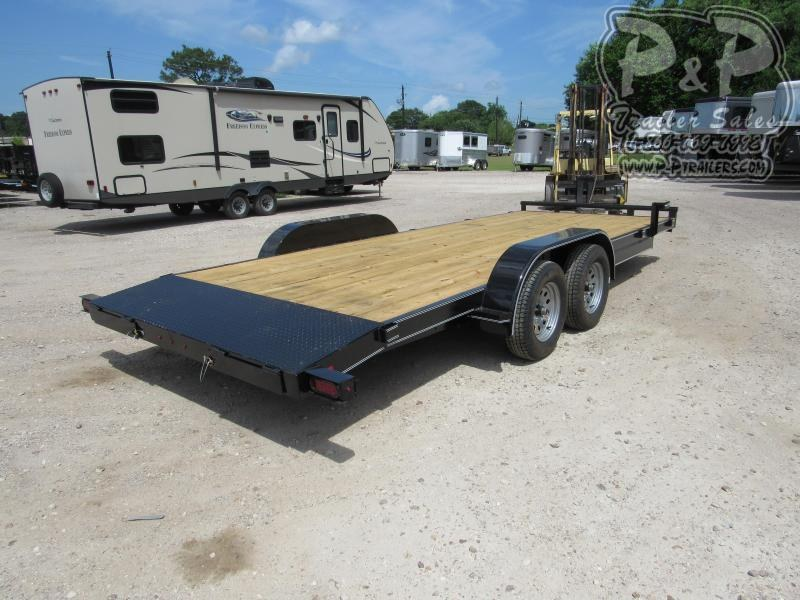2019 P and P 83 x 20 Wood Floor Car Hauler 20 ft Utility Trailer
