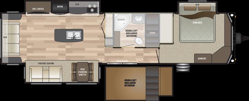 2019 Keystone RV Residence 401FLFT DESTINATION TRAILER 40.92' Destination Trailers LQ