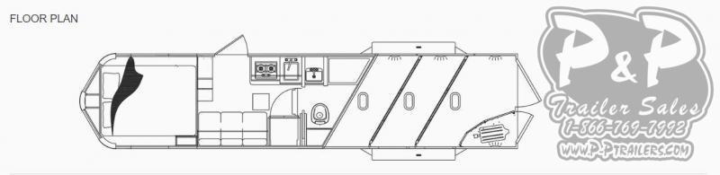 2020 Lakota Charger C39NS 3 Horse Slant Load Trailer 9 FT LQ