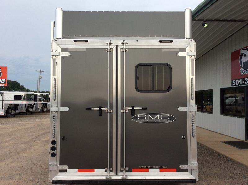 2019 SMC Horse Trailers 8 WIDE 11' LQ SL8311SFK 3 Horse Trailer 0 LQ With Slides Slant