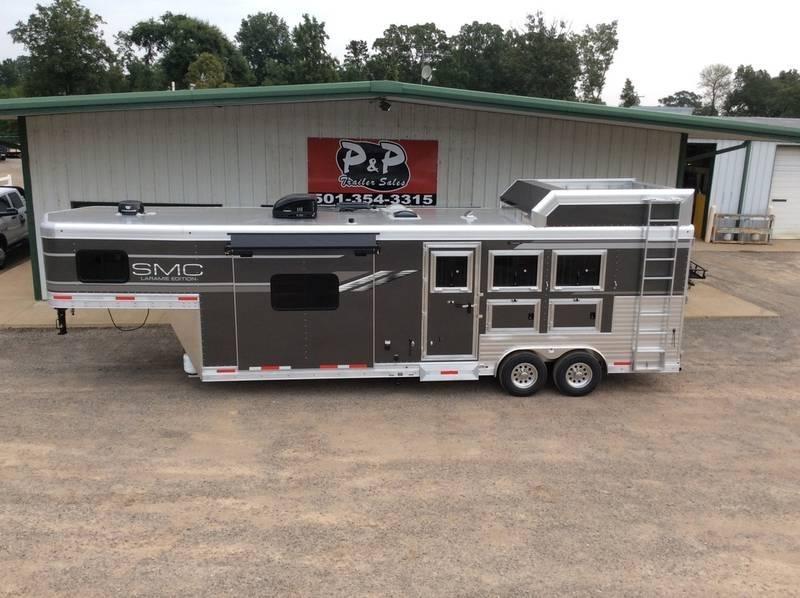 2020 SMC Horse Trailers 8 WIDE 11 LQ SL8311SFK 3 Horse Trailer 0 LQ With Slides Slant in Ashburn, VA