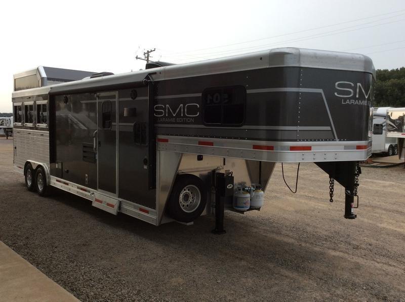 2020 SMC Horse Trailers 8 WIDE 11 LQ SL8311SFK 3 Horse Trailer 0 LQ With Slides Slant
