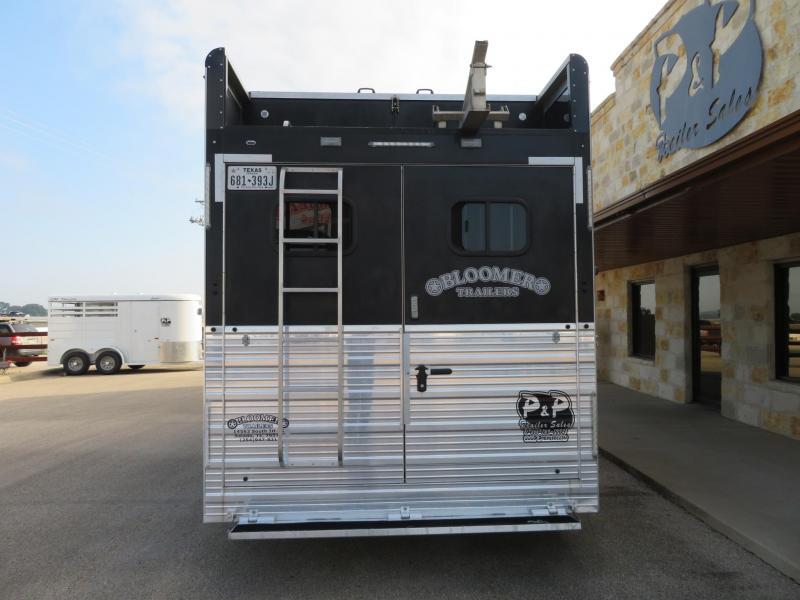 2017 Bloomer 84BP 4 Horse Trailer Slant