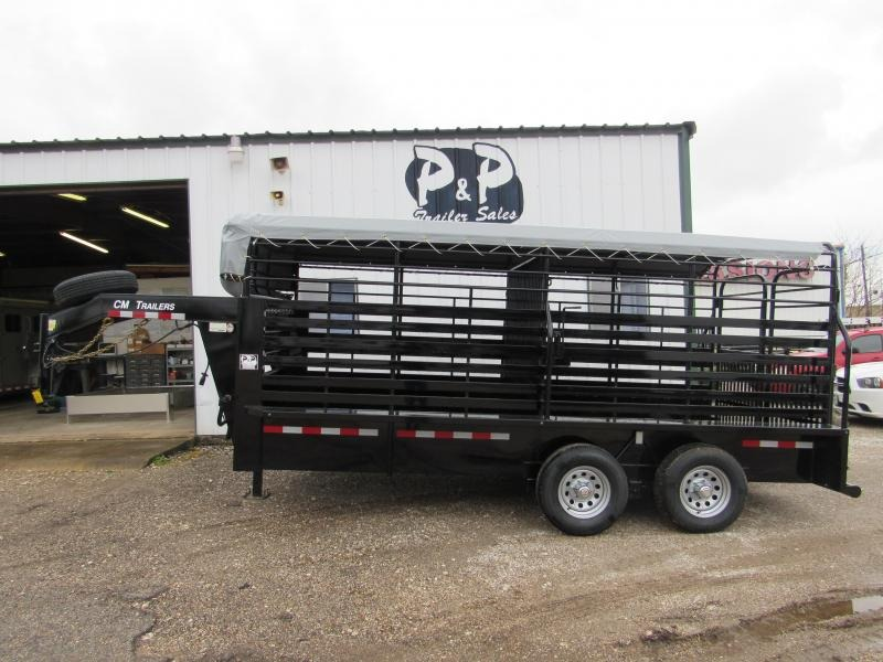 2019 CM Brush Buster 16x6.8x6.6 Livestock Trailer