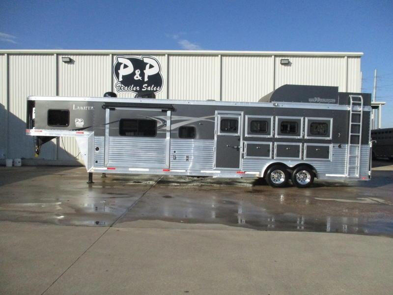 2015 Lakota Trailers Big Horn Edition BH8412 4 Horse 12' Short Wall with Slide-out & Generator